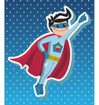 Superhero boy cartoon vector image vector image