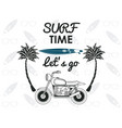 surf time card vector image