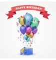 Template for Happy birthday card vector image vector image