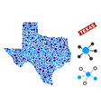 texas map connections mosaic vector image