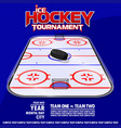 variant of the poster for ice hockey tournament vector image vector image