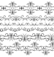 Vintage border design elements black on white vector image vector image