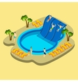 Water Park And Swimming vector image vector image