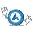 waving ardor coin character cartoon vector image vector image