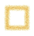 abstract gold sand dust glitter frame square vector image
