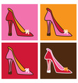 Pop pink stilettos background vector image