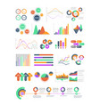 multicolored infographics with different vector image
