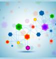 abstract hexagonal molecular structure vector image vector image