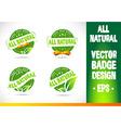 all natural badge logo