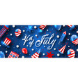 american traditional banner for usa independence vector image vector image