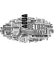 Aptitude test text word cloud concept vector image