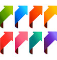 arrow set 8 colors vector image vector image