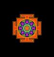bagalamukhi yantra tibetan colorful mandala vector image vector image
