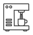 bar coffee machine icon outline bar coffee vector image