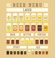 beer infographic vector image vector image
