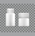 blank medical storage box for pharmaceutical vector image vector image