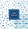 blue shades seamless pattern collection vector image vector image