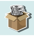 box currency money vector image