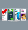 business roll up banner stand abstract roll up vector image vector image