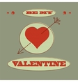 card Be my Valentine vector image vector image