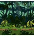 cartoon green thickets in the jungle vector image vector image