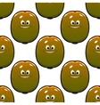 cartoon kiwi fruits seamless pattern vector image