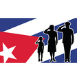 Cuba soldier family salute vector image vector image