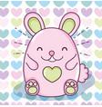 cute hamster kawaii vector image