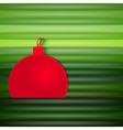 decorative christmas ball vector image