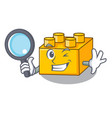 detective plastic shaped toy on construction vector image vector image