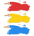 diffrent color of paint brush vector image vector image