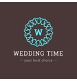 elegant simple monogram logo Wedding vector image
