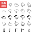 Exclusive set of weather forecast icons vector image vector image