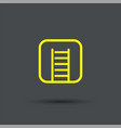 fire ladder icon exclusive symbols vector image vector image
