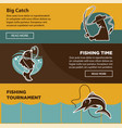 fishing tournament time for big catch colorful vector image vector image