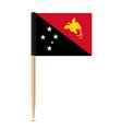 flag of papua new guinea flag toothpick vector image