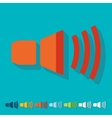 Flat design sound on vector image