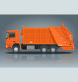 flat garbage truck garbage recycling and vector image