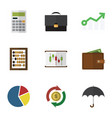 flat icon incoming set of counter graph vector image vector image