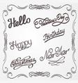handwritten lettering vector image vector image