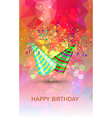 happy birthday hats and confetti surprise vector image vector image