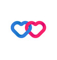hearts union unification of loving red vector image