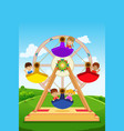 kids riding a ferris wheel vector image