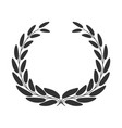 laurel wreath isolated on white background vector image vector image