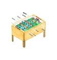 Old fashioned foosball or kicker table Watercolor