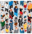 People Crowd Seamless Patten vector image