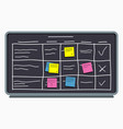 planning board with sticky notes task board vector image