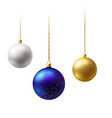 realistic multi-colored matte christmas balls vector image vector image