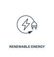 renewable energy icon outline style premium vector image vector image