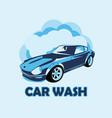 retro car logo design concept template vector image vector image